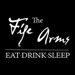 Fife Arms Logo White On Black